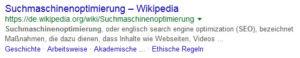 Suchmaschinenoptimierung WIKIPEDIA Definition